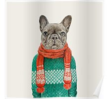 french bulldog portrait Poster