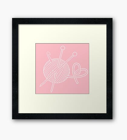 Yarn Love Framed Print