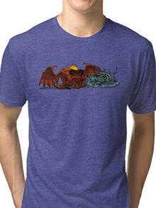 Moria Monsters Texting Tri-blend T-Shirt