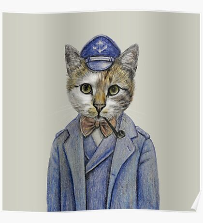 cat captain Poster