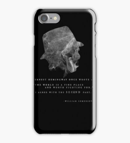 Seven - Morgan Freeman iPhone Case/Skin