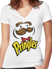 Pringles Women's Fitted V-Neck T-Shirt