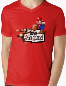 Mario Diddy Kong Mens V-Neck T-Shirt
