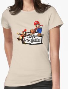 Mario Diddy Kong Womens Fitted T-Shirt