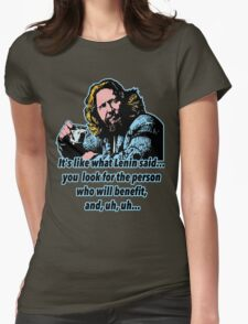 Big Lebowski Philosophy 4 Womens Fitted T-Shirt