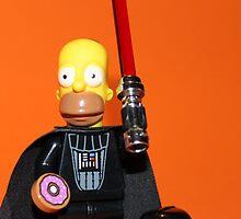 Homer Simpson Darth Vader by Kirk Arts