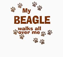 My Beagle Walks All Over Me Women's Fitted Scoop T-Shirt