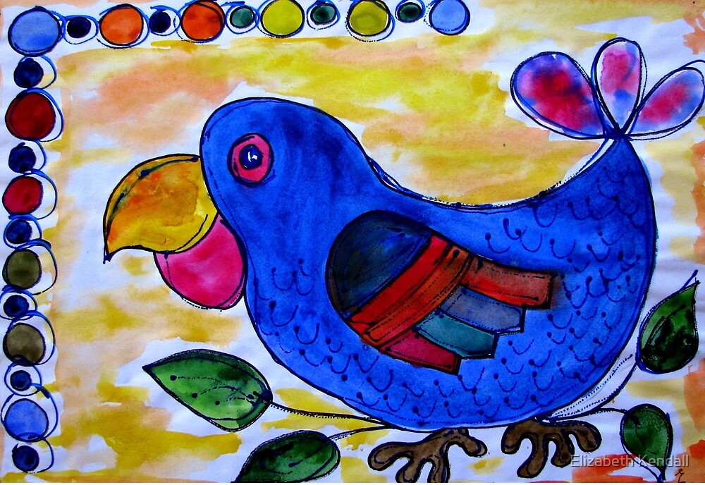 Blue bird of happiness by Elizabeth Kendall