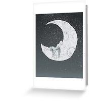 Sleeping Moon Greeting Card