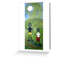 Two boys. Greeting Card