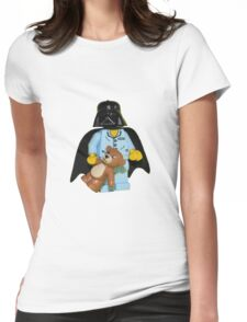 Sleepy Darth Vader Womens Fitted T-Shirt