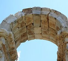 Arched Gate Relief Detail -  Tetrapylon Aphrodisias Turkey by taiche