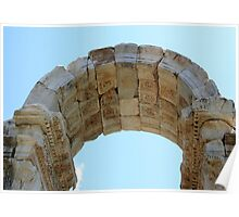 Arched Gate Relief Detail -  Tetrapylon Aphrodisias Turkey Poster