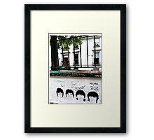 Fab Four Graffiti at Abbey Road Studios Framed Print