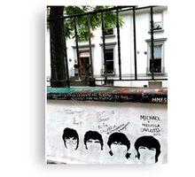 Fab Four Graffiti at Abbey Road Studios Canvas Print