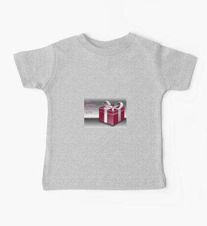 A Red Wrapped Gift Box To Both Of You  Baby Tee