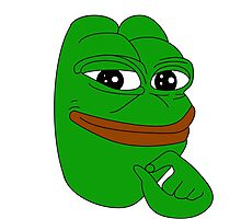Pepe The Frog Smooth Meme Photographic Print