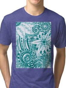 A Sea of Turquoise Tri-blend T-Shirt