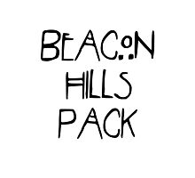 Beacon Hills Pack Photographic Print