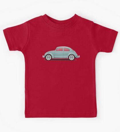 1961 Volkswagen Beetle Sedan - Turquoise Kids Tee