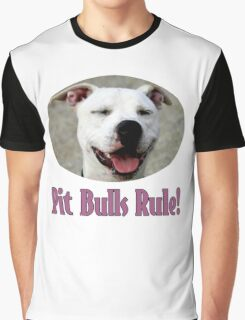 Pit Bulls Rule! Graphic T-Shirt
