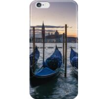 Sunset over the venetian canal iPhone Case/Skin