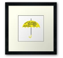 The universe has a plan Framed Print