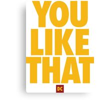 Redskins You Like That Cousins DC Football by AiReal Apparel Canvas Print