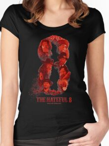 the hateful 8 logo Women's Fitted Scoop T-Shirt