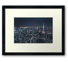 Tokyo Skyline at night Framed Print