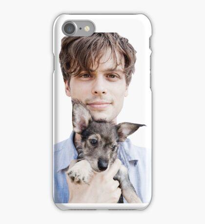 Matthew Gray Gubler Holding Puppy iPhone Case/Skin