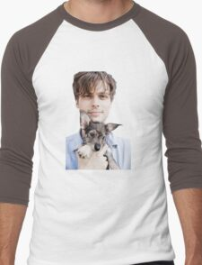 Matthew Gray Gubler Holding Puppy Men's Baseball ¾ T-Shirt
