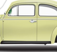 1963 Volkswagen Beetle Sedan - Beryl Green Sticker