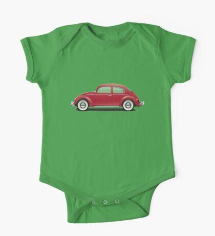 1964 Volkswagen Beetle Sedan - Ruby Red One Piece - Short Sleeve