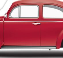 1964 Volkswagen Beetle Sedan - Ruby Red Sticker