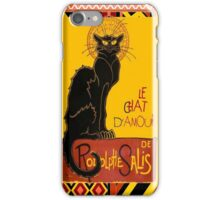 Le Chat D'Amour With Ethnic Coloured Border iPhone Case/Skin