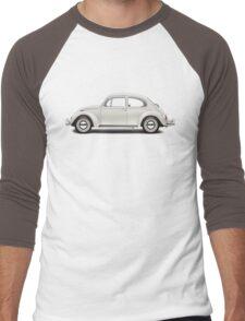 1966 Volkswagen Beetle Sedan - Pearl White Men's Baseball ¾ T-Shirt