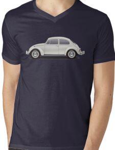 1966 Volkswagen Beetle Sedan - Pearl White Mens V-Neck T-Shirt