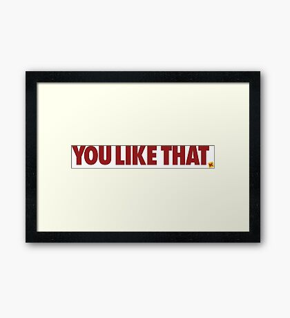 Redskins You Like That Cousins DC Football by AiReal Apparel Framed Print