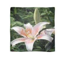 Oriental Hybrid Lily in White, Peach and Pink Scarf