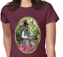 A Colonial Lady in Her Garden Womens Fitted T-Shirt