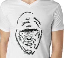 SilverBack Gorilla Mens V-Neck T-Shirt