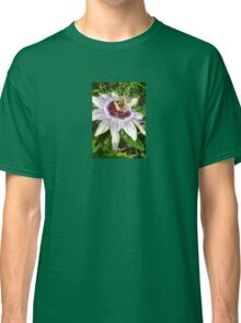 Passiflora Close Up With Garden Background Classic T-Shirt