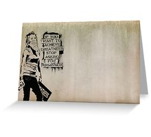 banksy-02 Greeting Card