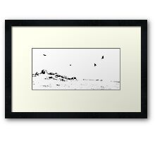 High Key Winter At Beacon Hill, Leicestershire Framed Print