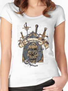 Skull Goth Rock 02 Women's Fitted Scoop T-Shirt