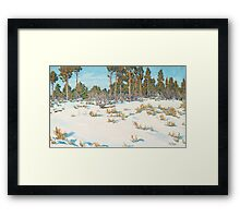 GUNNAR WIDFORSS, SNOW, FOREST IN GRAND CANYON.  Framed Print