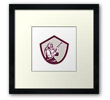 Sandblaster Hose Shield Side Retro Framed Print