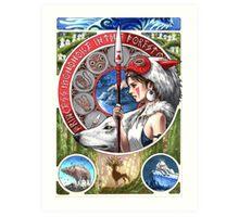 Princess Mononoke Art Print