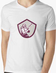 Sandblaster Hose Shield Side Retro Mens V-Neck T-Shirt